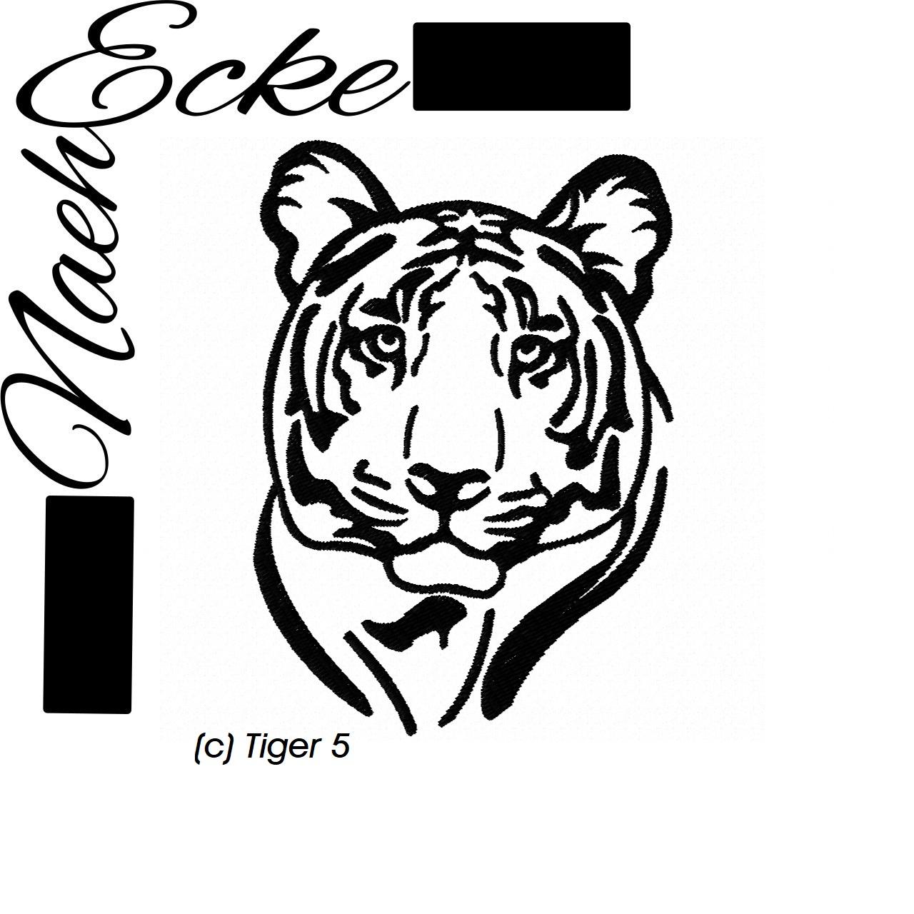 Stickdateien Großkatzen (Löwe, Tiger)