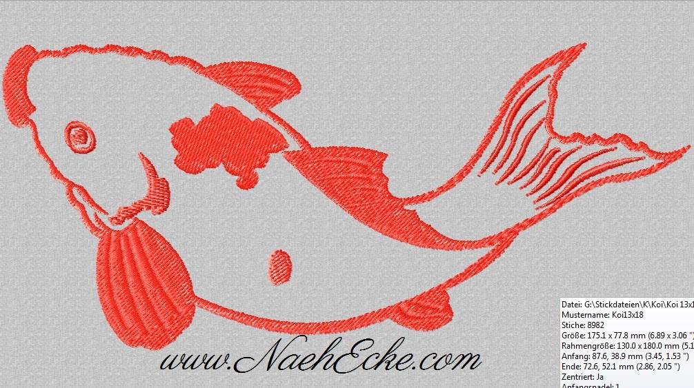 Stickdateien Fische