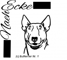 Stickdatei Bullterrier 1 10x10