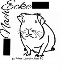 Stickdatei Meerschweinchen 3-2 13x18