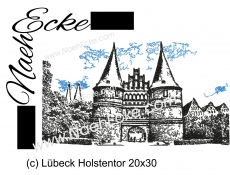 Stickdatei Lübeck Holstentor 20x30 Scrib-Art