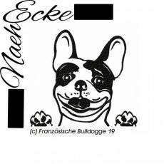Stickdatei Französische Bulldogge Nr. 19 13x18