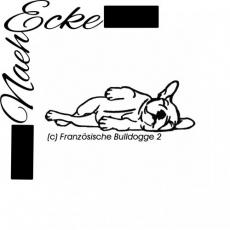 Stickdatei Französische Bulldogge Nr. 2 13x18