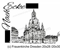 Stickdatei Frauenkirche Dresden 20x28 / 20x30 Scrib-Art
