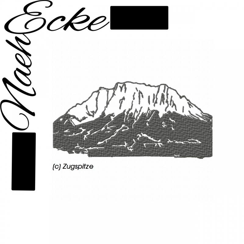 Stickdatei Zugspitze 13x18