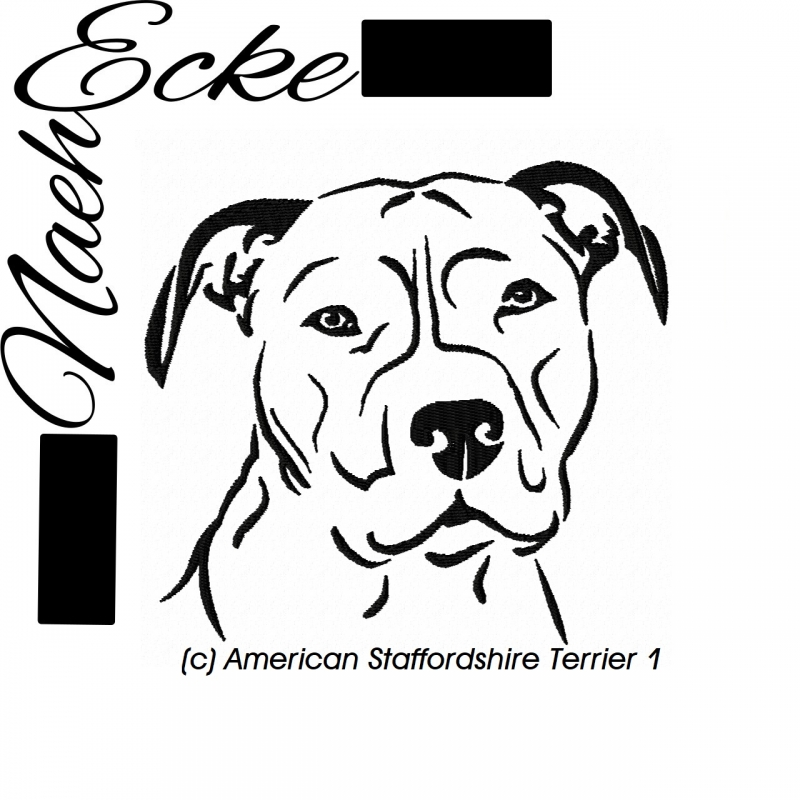 Stickdatei American Staffordshire Terrier 1 10x10