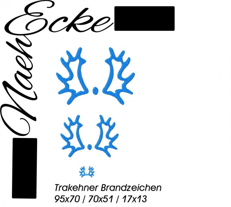 Stickdatei Brandzeichen Trakehner 10x10
