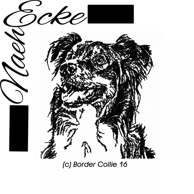 Stickdatei Border Collie 16 13x18