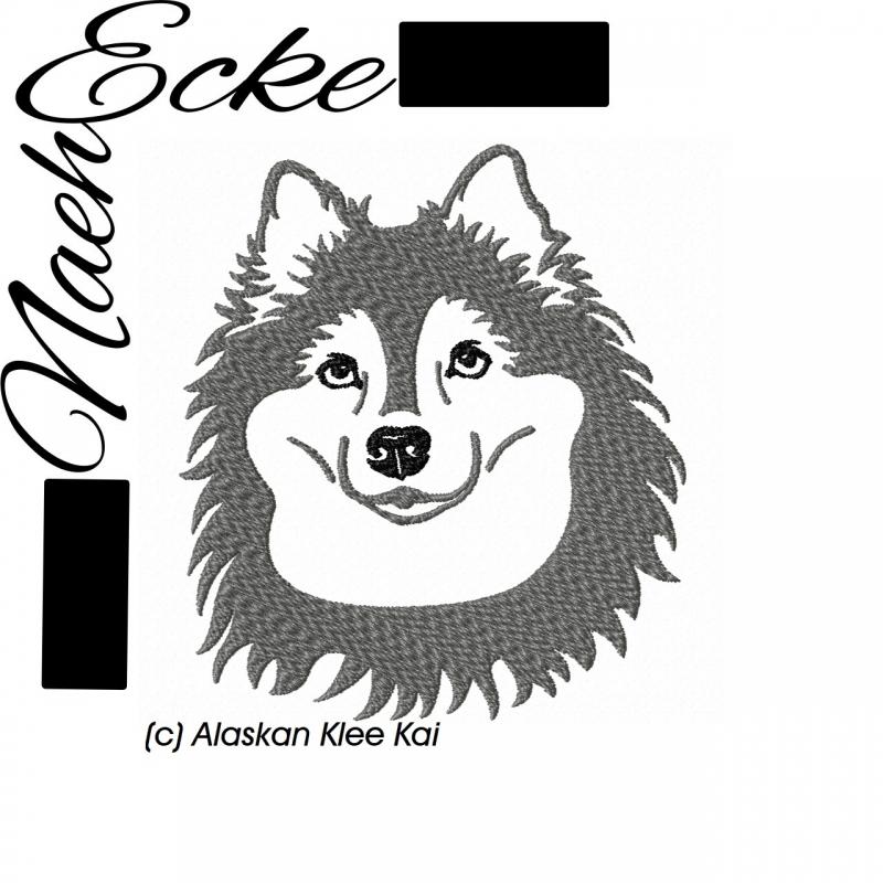 Stickdatei Alaskan Klee Kai 10x10