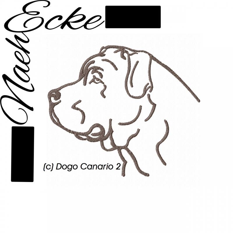 Stickdatei Dogo Canario 2 13x18