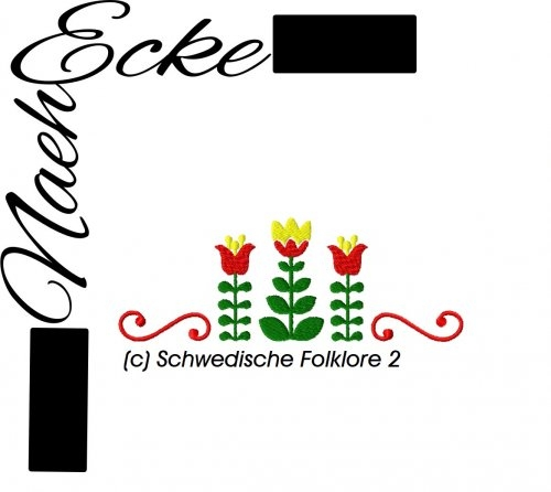 Stickdatei Schwedische Folklore 2 10x10