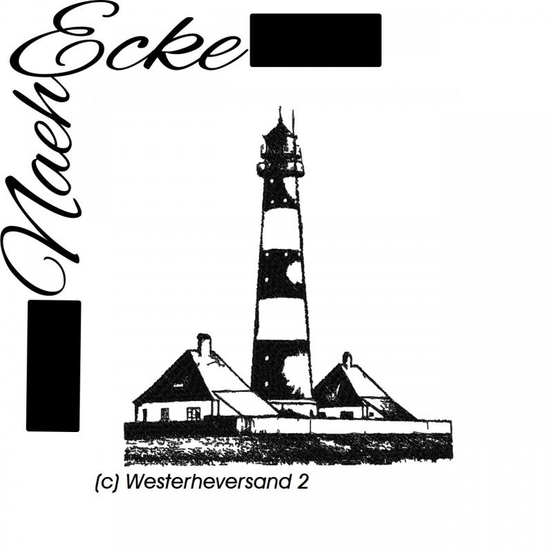 Stickdatei Leuchtturm Westerheversand 20x20 / 20x30 Scrib-Art