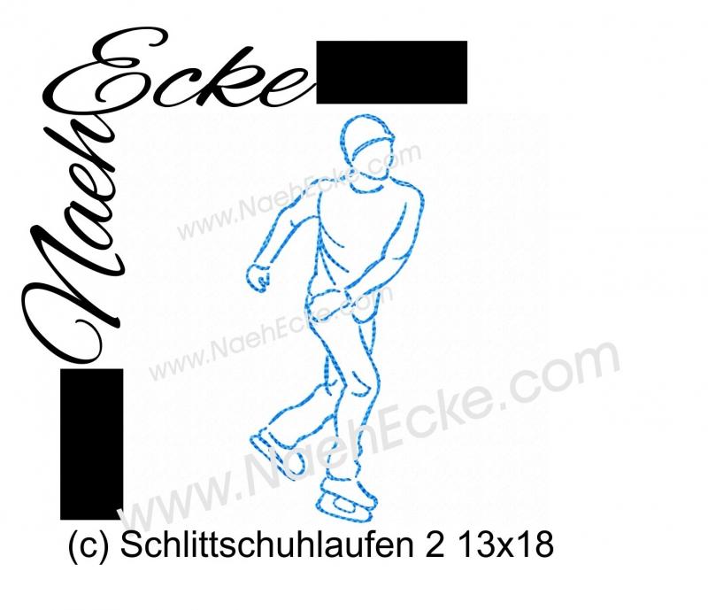 Stickdatei Schlittschuhlaufen 2 13x18