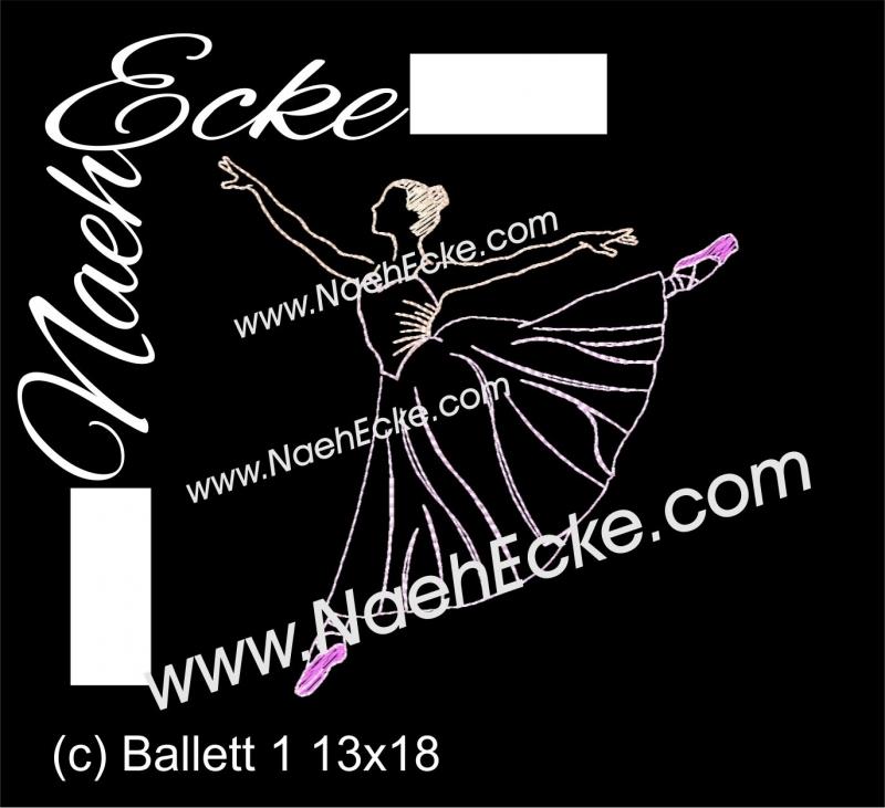 Stickdatei Ballett 1 13x18