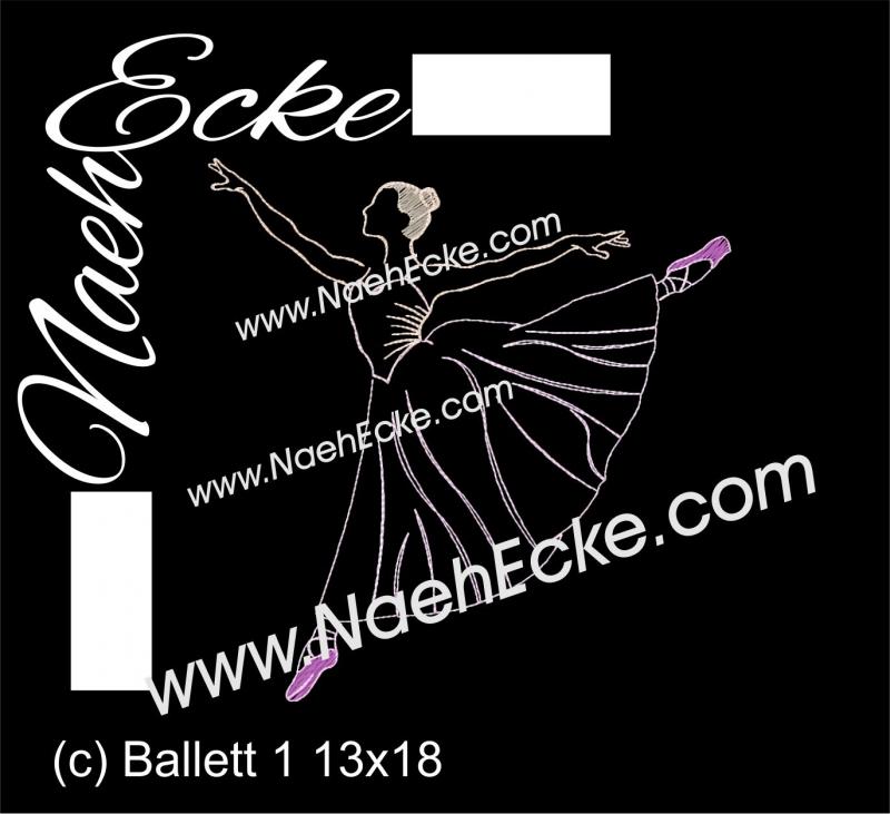 Stickdatei Ballett 1 20x30
