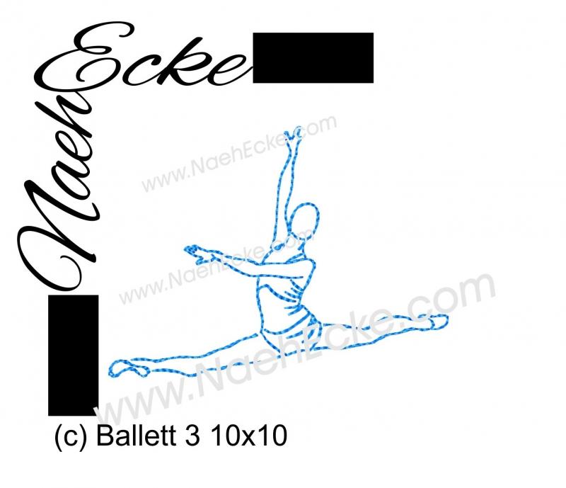 Stickdatei Ballett 3 10x10