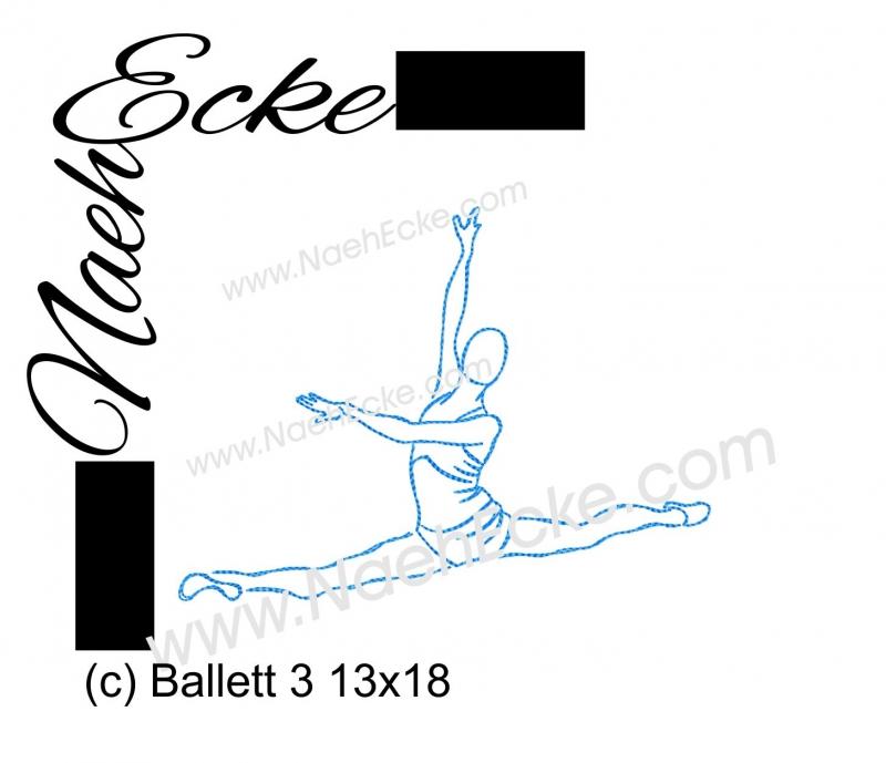 Stickdatei Ballett 3 13x18