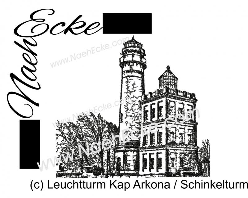 Stickdatei Leuchtturm Kap Arkona Schinkelturm 20x28 / 20x30 Scrib-Art