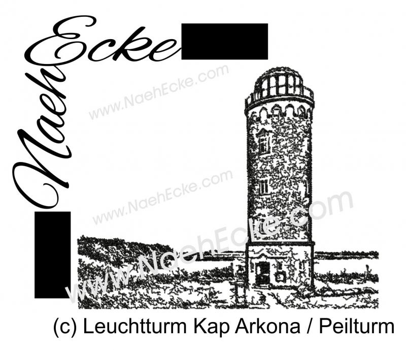 Stickdatei Leuchtturm Kap Arkona Peilturm 20x28 / 20x30 Scrib-Art