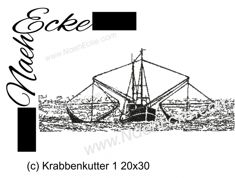 Stickdatei Krabbenkutter 1 20x30
