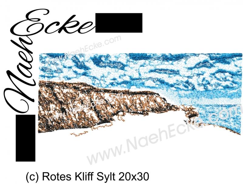 Stickdatei Rotes Kliff Sylt 20x30 Scrib-Art