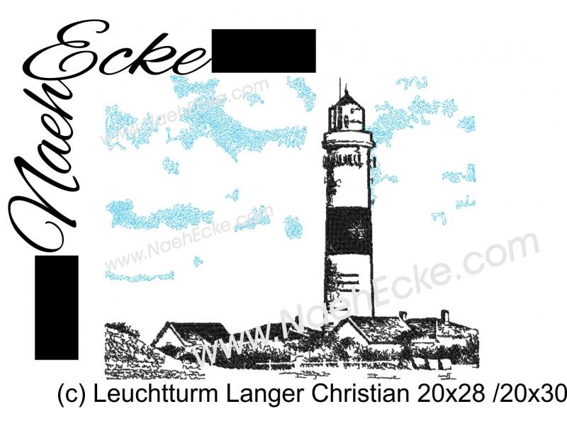 Stickdatei Leuchtturm Langer Christian Sylt 20x28 / 20x30 Scrib-Art