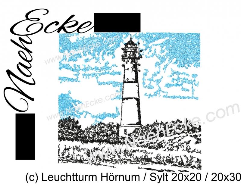 Stickdatei Leuchtturm Hörnum Sylt 20x20 / 20x30 Scrib-Art