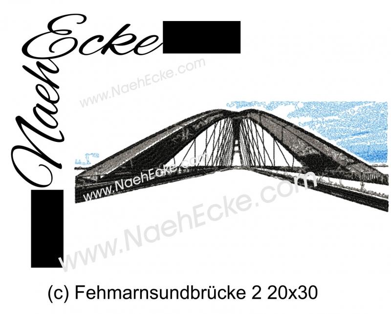 Stickdatei Brücke Fehmarnsundbrücke 2 20x30