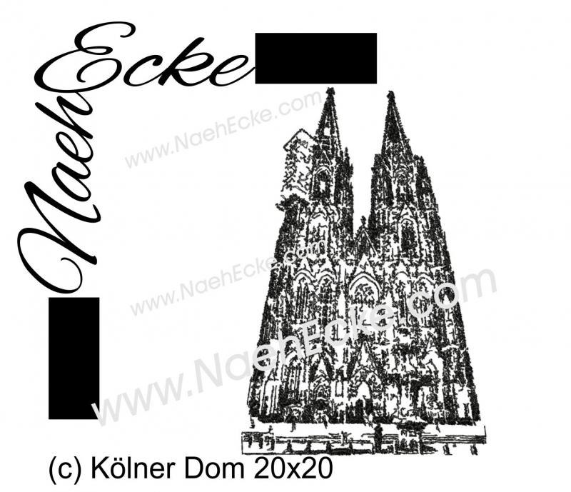 Stickdatei Kölner Dom 20x20 / 20x30 Scrib-Art