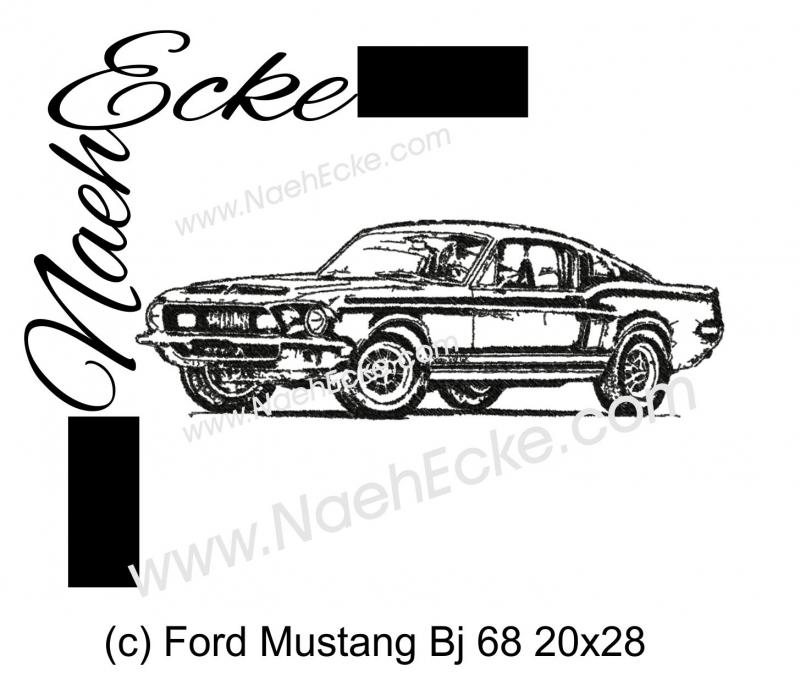 Stickdatei Mustang Bj 68 20x28