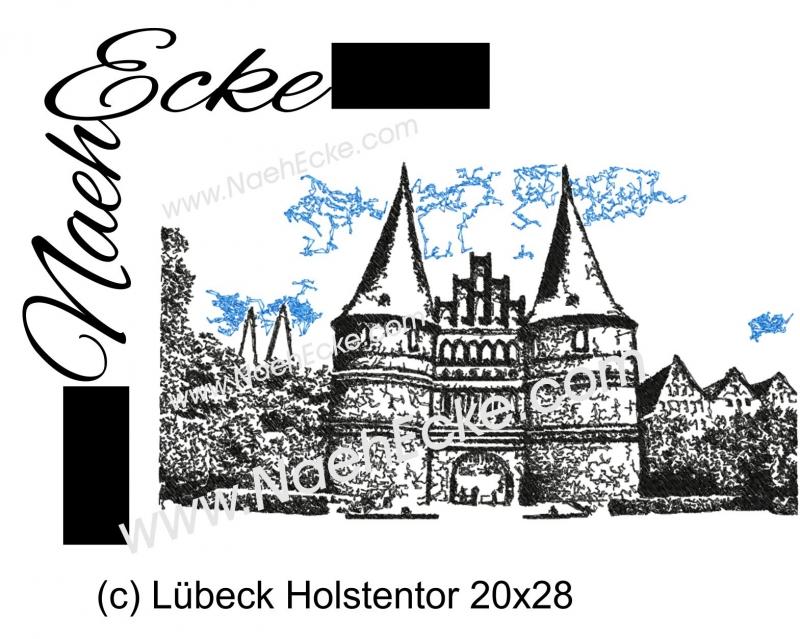Stickdatei Lübeck Holstentor 20x28 Scrib-Art
