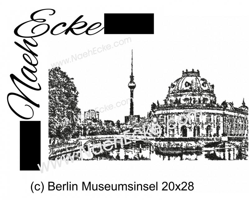 Stickdatei Berlin Museumsinsel 20x28 Scrib-Art
