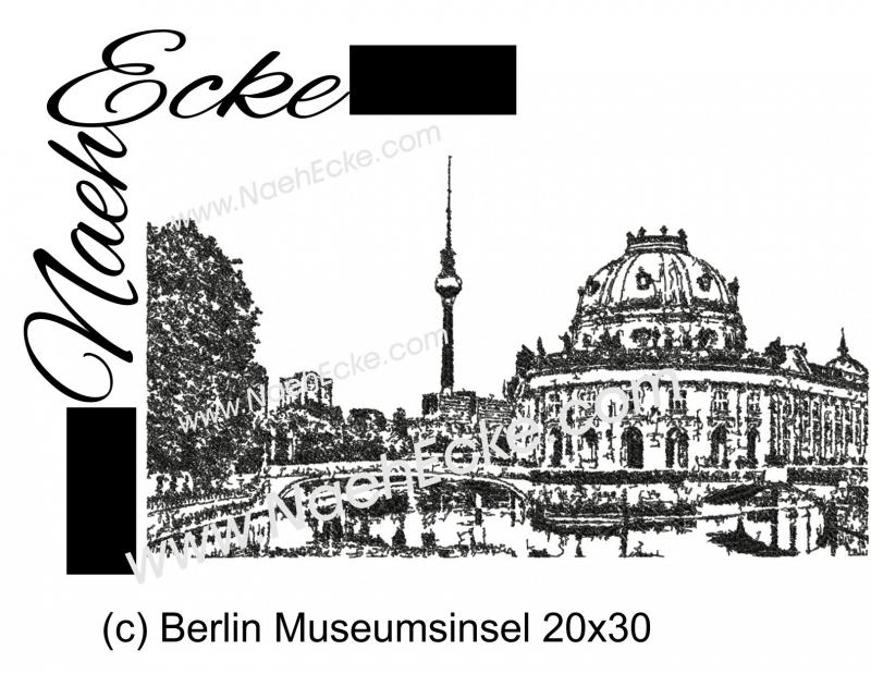 Stickdatei Berlin Museumsinsel 20x30 Scrib-Art