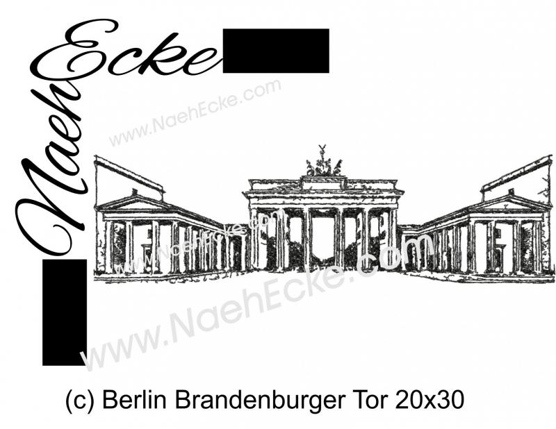 Stickdatei Berlin Brandenburger Tor 20x30 Scrib-Art