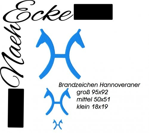 Stickdatei Brandzeichen Hannoveraner 10x10