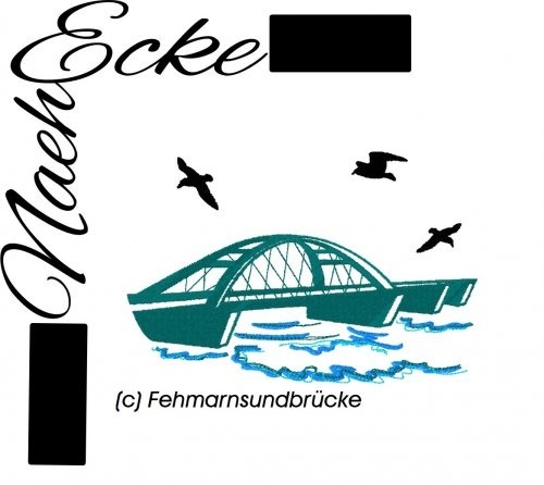 Embroidery Bridge Fehmarn Sundbrücke 4x4
