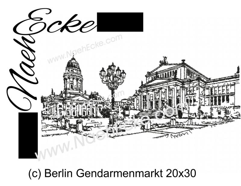 Stickdatei Berlin Gendarmenmarkt 20x30 Scrib-Art