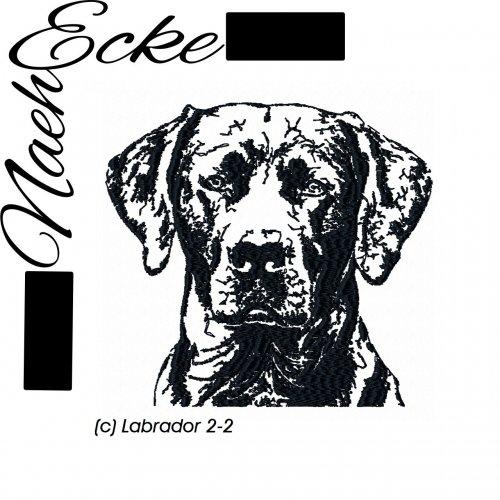 Stickdatei Labrador Nr. 2-2 13x18