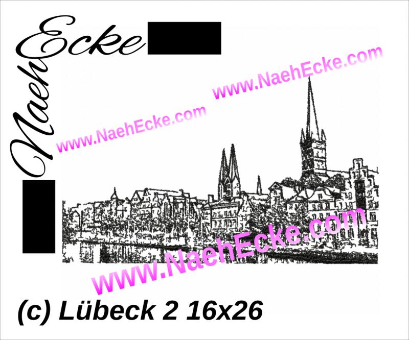 Stickdatei Lübeck 16 x 26 Scrib-Art