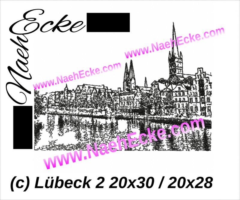 Stickdatei Lübeck 20x28 / 20x30 Scrib-Art