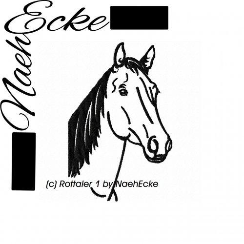 Stickdatei Rottaler Pferd 20x30 hoch