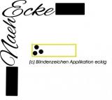 Stickdatei Applikation Blindenzeichen 2 13x18