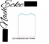 Embroidery File vaccination record cover uni Greek BLANK