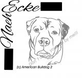 embroidery american Bulldog 2 10x10