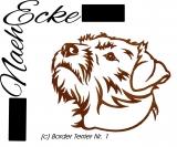 Stickdatei Border Terrier 1 10x10