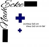 Stickdatei Kreuz 2x2 und 5x5