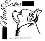Stickdatei Chihuahua Nr. 5 Langhaar 10x10