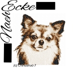 Stickdatei Chihuahua Nr. 7 Langhaar 10x10 PHOTOstitch