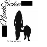 Stickdatei Frau mit Hund (Kaukasischer Ovtschaka)