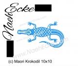 Stickdatei Maori Krokodil 10x10